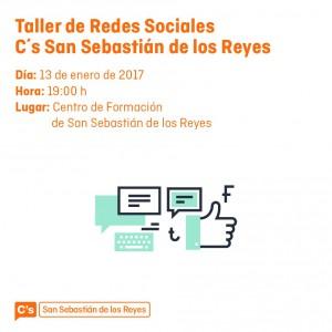 Taller de redes Sociales Facebook Twitter Ciudadanos San Sebastián de los Reyes