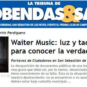 Waiter Music: luz y taquígrafos para conocer la verdad