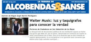 Waiter Music La tribuna de la moraleja ciudadanos San Sebastian de los Reyes Martin Perdiguero