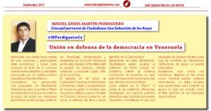 Venezuela Declaración Institucional Ciudadanos San Sebastián de los Reyes La Brújula del Norte