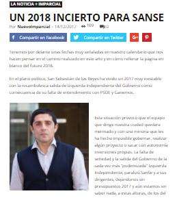 Un 2018 incierto para SanSe
