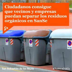 Contenedor residuos orgánicos Ciudadanos San Sebastián de los Reyes