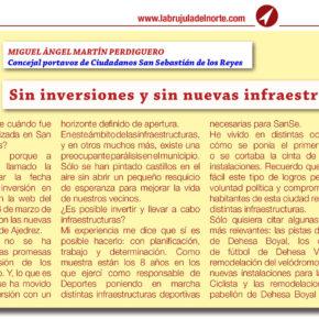 Sin inversiones y sin nuevas infraestructuras en SanSe