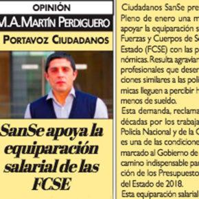 SanSe apoya la equiparación salarial de las FCSE