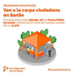 Carpa Ciudadana Ciudadanos Club de Campo San Sebastián de los Reyes