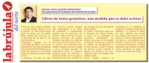 Ley Gratuidad de Libros de Texto Ciudadanos San Sebastián de los Reyes Miguel Ángel Martín Perdiguero