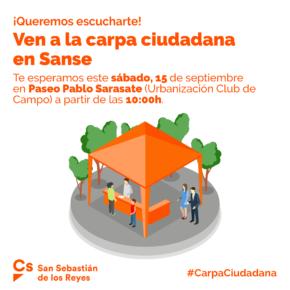 Carpa Ciudadana en Club de Campo