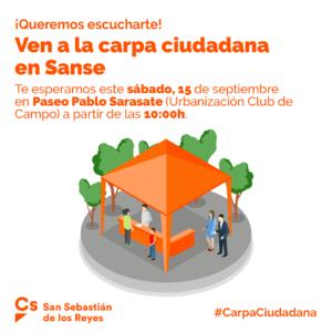 Carpa Ciudadana Club de Campo San Sebastián de los Reyes