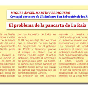 El problema de la pancarta de La Raíz