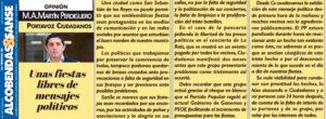 Fiestas libres de mensajes políticos Miguel Ángel Martín Perdiguero San Sebastián de los Reyes Ciudadanos Concierto La Raíz