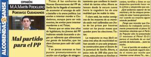 Mentiras Partido Popular San Sebastián de los Reyes Miguel Ángel Martín Perdiguero