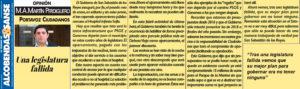 Legislatura fallida PSOE Ganemos Sanse ciudadanos San Sebastian de los reyes  Martin Perdiguero