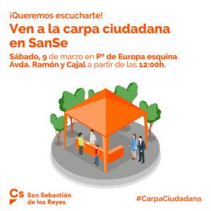 Carpa Ciudadanos San Sebastián de los Reyes en Moscatelares