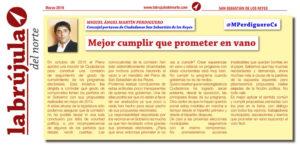 Cumplir programa Ciudadanos San Sebastián de los Reyes Miguiel Ángel Martín Perdiguero