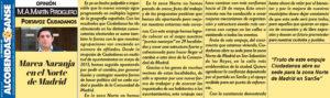 Tribuna Martin Perdiguero Ciudadanos San Sebastian de los Reyes Marea Naranja