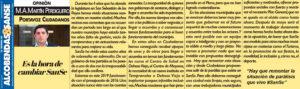 Ciudadanos San Sebastián de los Reyes La hora de cambiar SanSe Miguel Ángel Martín Perdiguero