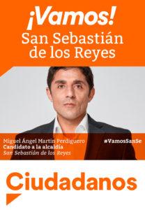 Miguel Ángel Martín Perdiguero Candidato Alcaldía San Sebastián de los Reyes Programa