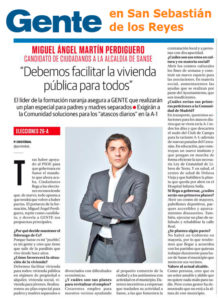 Miguel Angel Martin Perdiguero candidato alcaldía San Sebastian de los Reyes Ciudadanos