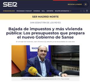 Juan Olivares Concejal Ciudadanos San Sebstián de los Reyes presupuestos 2020