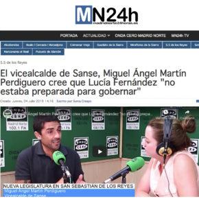 """El vicealcalde de Sanse, Miguel Ángel Martín Perdiguero cree que Lucía Fernández """"no estaba preparada para gobernar"""""""
