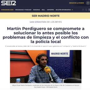 Martín Perdiguero se compromete a solucionar lo antes posible los problemas de limpieza y el conflicto con la policía local
