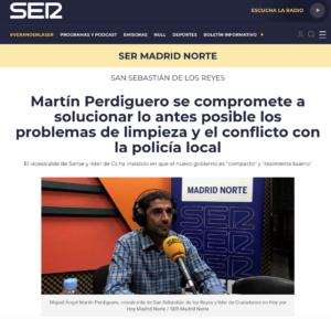 Miguel Ángel Martín Perdiguero Vicealcalde Ciudadanos San Sebastián de los Reyes