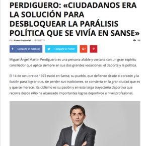 """""""Ciudadanos era la solución tras el 26 de mayo para desbloquear la parálisis política que se vivía en SanSe"""""""