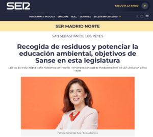 Patricia Hernández Ruiz-Medrano Concejal San Sebastián de los Reyes Ciudadanos SER Madrid Norte