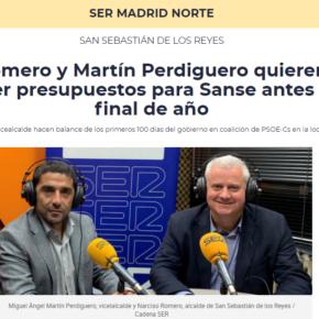 Alcalde y vicealcalde hacen balance de los primeros 100 días del gobierno en coalición de PSOE-Cs en la localidad