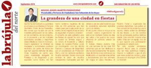 La Brujula Vicealcalde Miguel Angel Martin Perdiguero Ciudadanos Fiestas San Sebastián de los Reyes