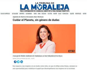 Patricia Hernández Ruiz Medrano Cuidar planeta Medio Ambiente