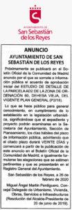 ANUNCIO estudio Centro de Salud Dehesa Vieja Ciudadanos San Sebastián de los Reyes.