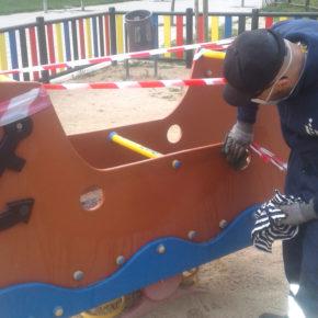 El Ayuntamiento de SanSe desinfecta y realiza mejoras en las 164 áreas infantiles de la ciudad