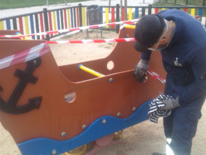 San sebastian de los reyes parques infantiles covid-19