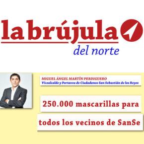 250.000 mascarillas para todos los vecinos de SanSe