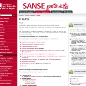SanSe potencia su atención telemática con nuevas utilidades para la obtención del empadronamiento