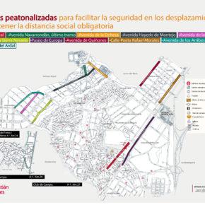 SanSe peatonaliza temporalmente once calles de la ciudad para facilitar las salidas de los vecinos en la desescalada