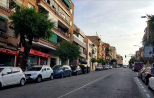 Calle Real San Sebastián de los Reyes covid-19 coches abandonados