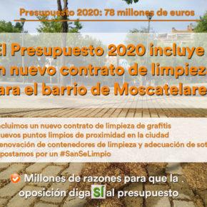 El Presupuesto 2020 de San Sebastián de los Reyes incluye importantes mejoras en Limpieza y en Parque y Jardines
