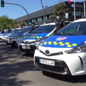 La Policía Local de San Sebastián de los Reyes renueva el 80 por ciento de su flota con 13 vehículos y presenta la nueva imagen de los coches patrulla