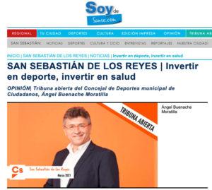 Ángel Buenache concejal de Deportes Ayuntamiento de San Sebastián de los Reyes