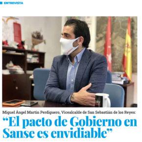 """""""El pacto de Gobierno y la situación en Sanse es envidiable"""""""