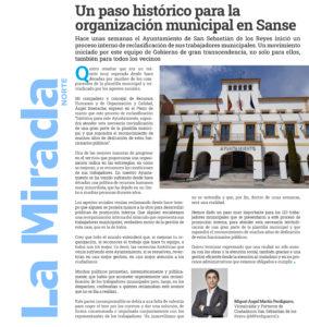 La Mirada Norte Martín Perdiguero Vicealcalde San Sebastian de los Reyes reclasificacion funcionarios