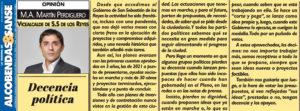 Decencia política Miguel Ángel Martín Perdiguero Ciudadanos San Sebastián de los Reyes